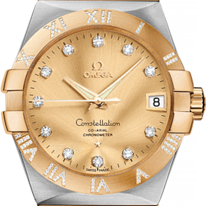 123.25.38.21.58-002 Omega Co-axial Constellation Ladies