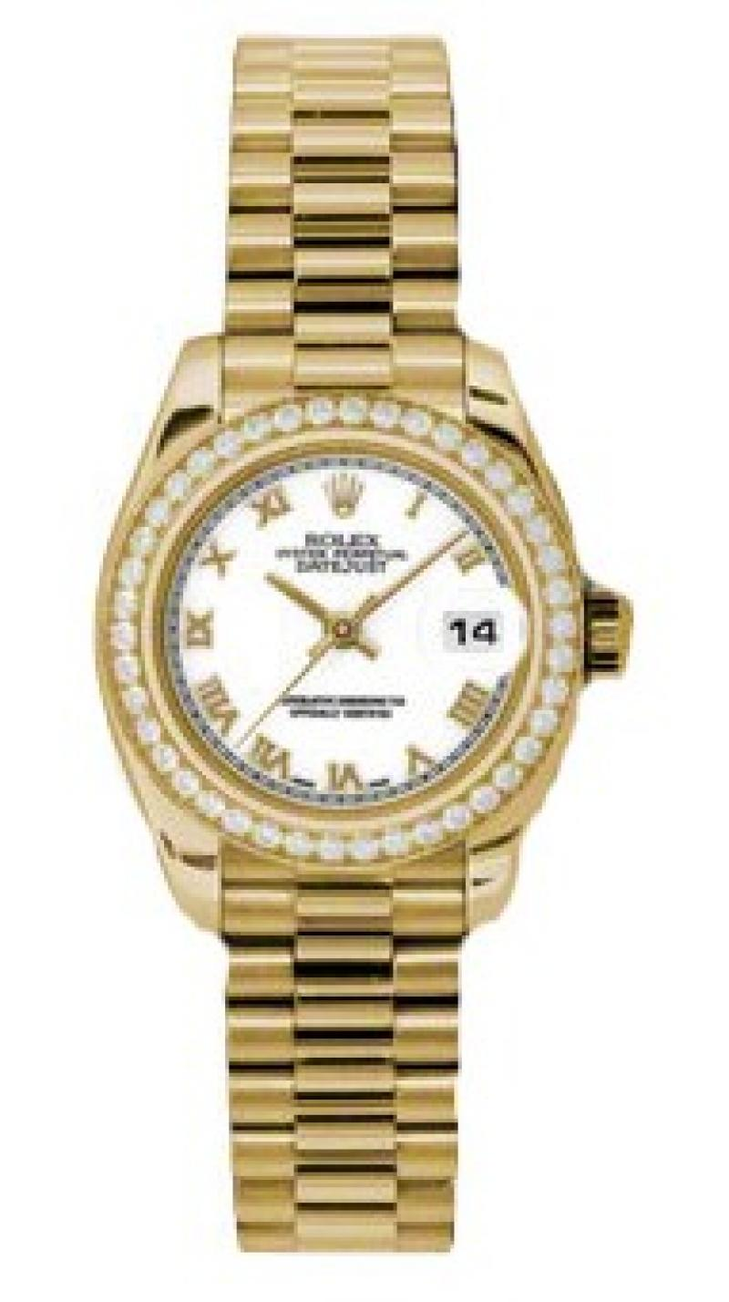 179138 wrp Rolex 26mm Yellow Gold Datejust Ladies