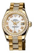 Rolex Datejust Ladies 179138 White MOP 26mm Yellow Gold