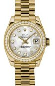 Rolex Datejust Ladies 179138 mdp 26mm Yellow Gold