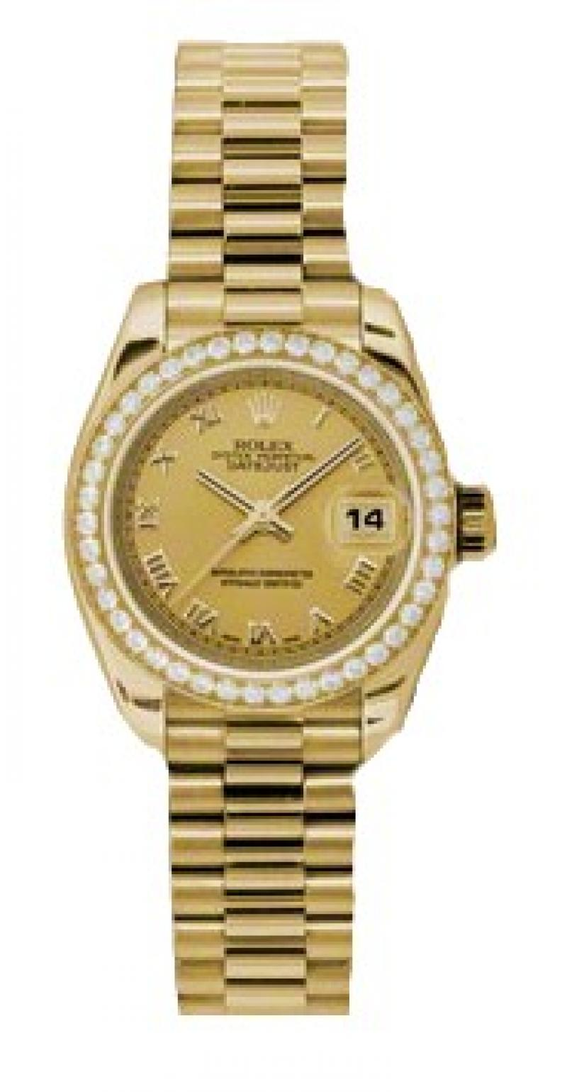 179138 chrp Rolex 26mm Yellow Gold Datejust Ladies
