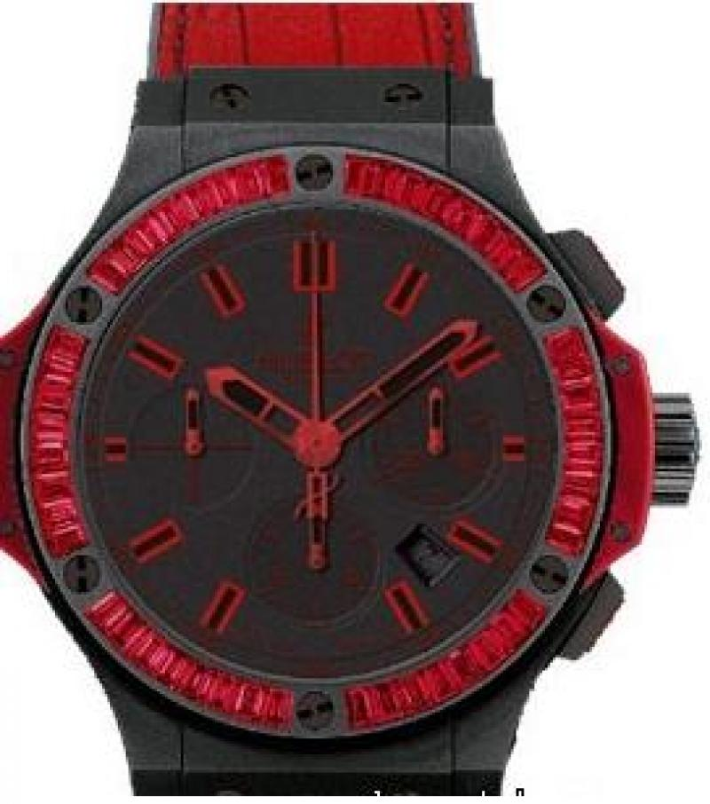 301.CI.1130.GR.1902.ABR10 Hublot Black Ceramic All Black Red Big Bang 44mm