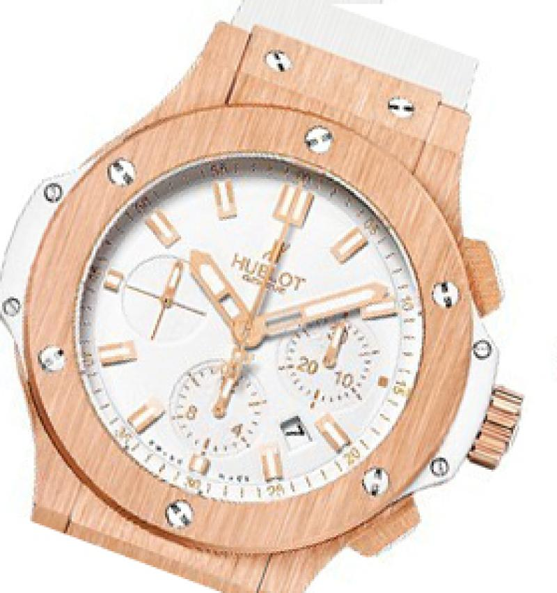 301.PE.2180.RW Hublot Evolution Gold All White Big Bang 44mm