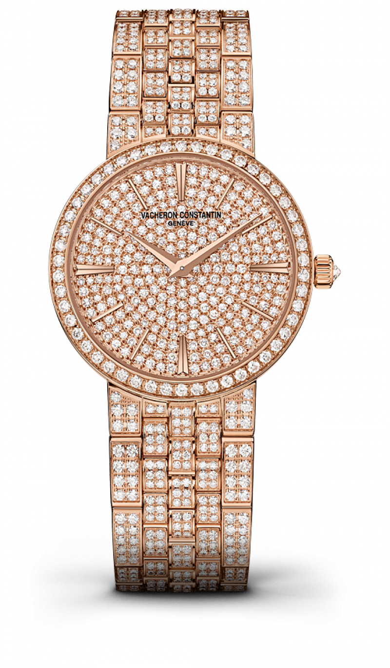 25575/Q02R-9281 Vacheron Constantin Traditionnelle Gold Bracelet Small Model Diamond Set Traditionnelle Lady