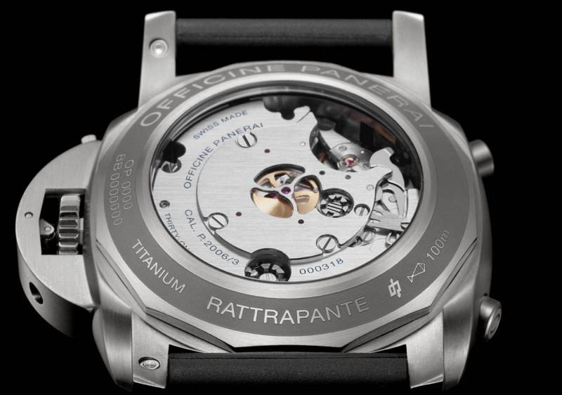 PAM00530 Officine Panerai 1950 Rattrapante 8 Days Titanio Luminor