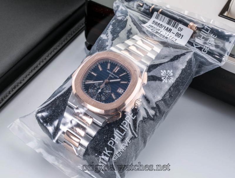 5980/1AR-001 Patek Philippe Stainless Steel and Rose Gold Nautilus