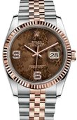 Rolex Datejust Ladies 116231 brown floral diamonds dial Jubilee 36mm