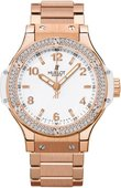 Hublot Big Bang 38mm Ladies 361.PE.2010.PE.1104 Red Gold All White Diamonds