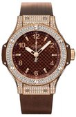 Hublot Big Bang 38mm Ladies 361.PC.3380.LR.1704 Red Gold Cappuccino Diamonds