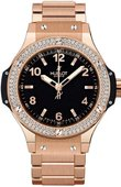 Hublot Big Bang 38mm Ladies 361.PX.1280.PX.1104 Red Gold Diamonds