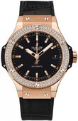 Hublot Big Bang 38mm Ladies 365.PX.1180.LR.1104 Red Gold Diamonds