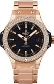 Hublot Big Bang 38mm Ladies 365.PX.1180.PX.1104 Red Gold Diamonds