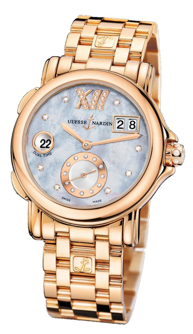 246-22-8/392 Ulysse Nardin GMT Big Date 37mm Dual Time Ladies