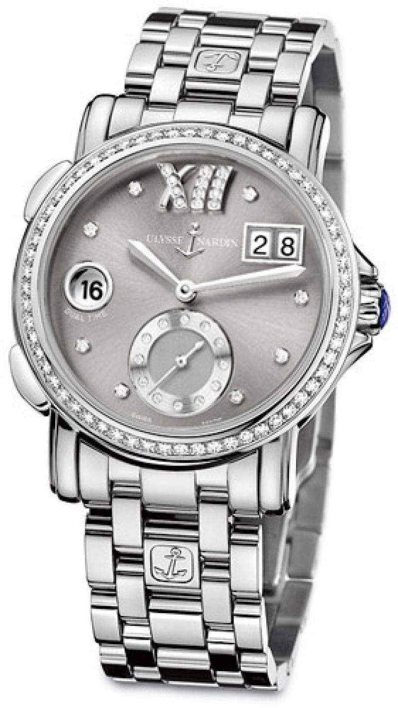 243-22B-7/30-02 Ulysse Nardin GMT Big Date 37mm Dual Time Ladies