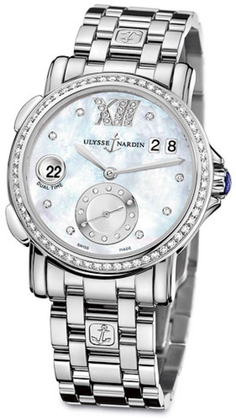 243-22B-7/391 Ulysse Nardin GMT Big Date 37mm Dual Time Ladies