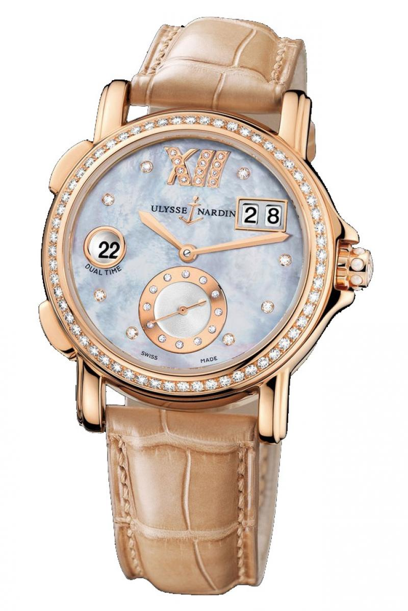 246-22B/392 Ulysse Nardin GMT Big Date 37mm Dual Time Ladies