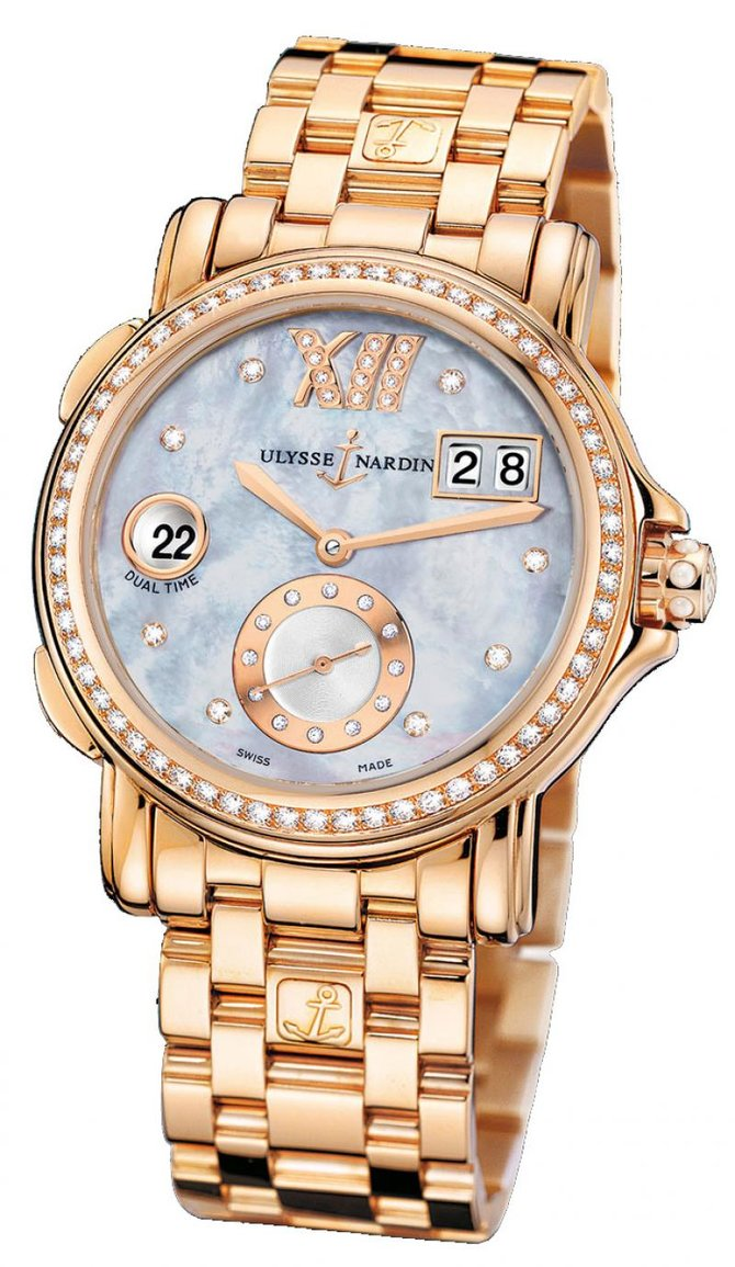 246-22B-8/392 Ulysse Nardin GMT Big Date 37mm Dual Time Ladies