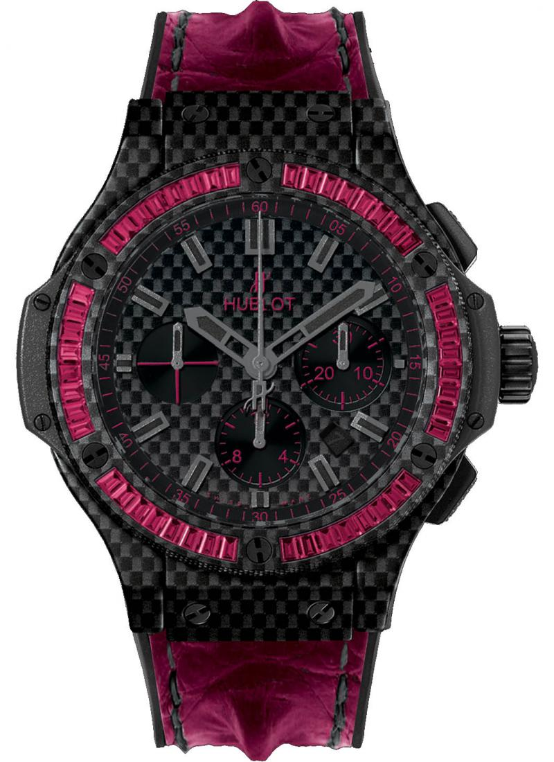 301.QX.1730.HR.1902 Hublot Carbon Bezel Baguette Big Bang 44mm