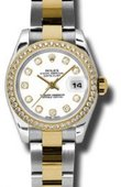 Rolex Datejust Ladies 179383 wdo 26mm Steel and Yellow Gold
