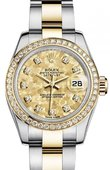 Rolex Datejust Ladies 179383 Gold Cristals Yellow 26mm Steel and Yellow Gold