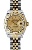 Rolex Datejust Ladies 179313 chmdrj 26mm Steel and Yellow Gold