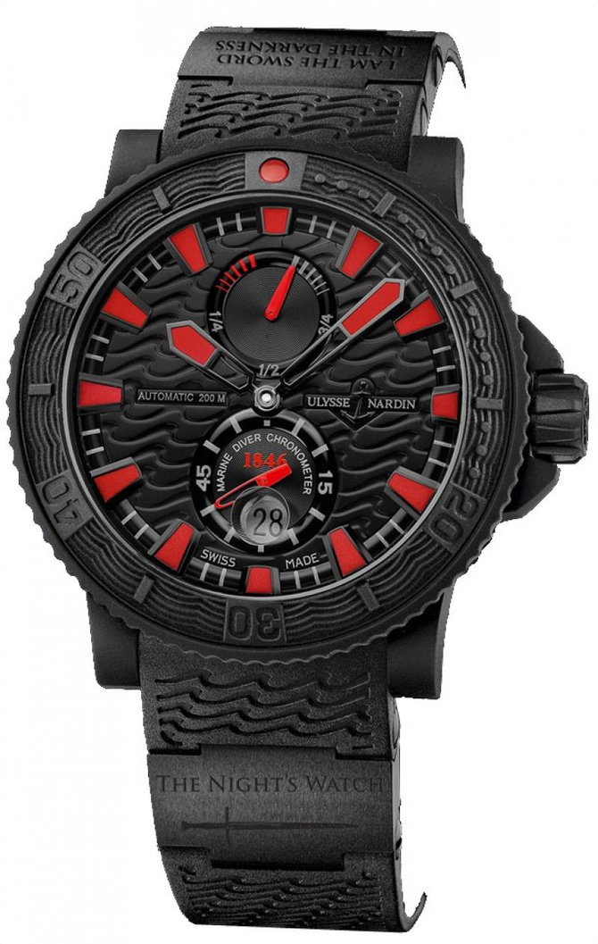 Ulysse Nardin Black Sea 'Game of Thrones' Maxi Marine Diver Black Sea 'Game of Thrones' Limited Edition 25 - фото 1