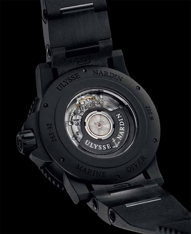 Ulysse Nardin Black Sea 'Game of Thrones' Maxi Marine Diver Black Sea 'Game of Thrones' Limited Edition 25 - фото 2