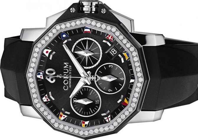 984.970.47/F371 AN12 Corum Admiral`s Cup Challenger 40 Chrono Diamonds Admirals Cup Challenger