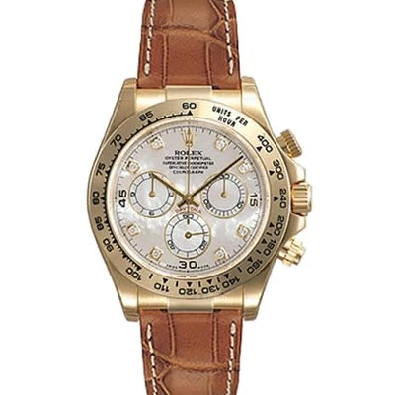 116518  white mother of pearl diamond dial Rolex cosmograph  Daytona