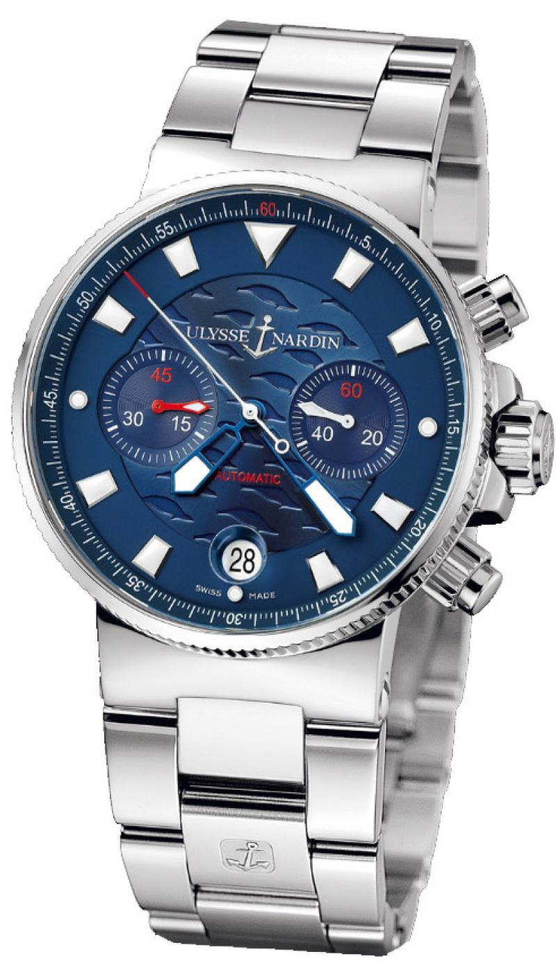 353-68LE-7 Ulysse Nardin Blue Seal Limited Edition 1846 Maxi Marine Chronograph
