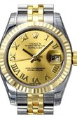 Rolex Datejust Ladies 179173 chrj 26mm Steel and Yellow Gold