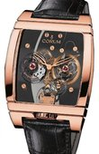 Corum Golden Bridges 382.870.55/0F01 0000 Golden Tourbillon Panoramique Grey Sapphire