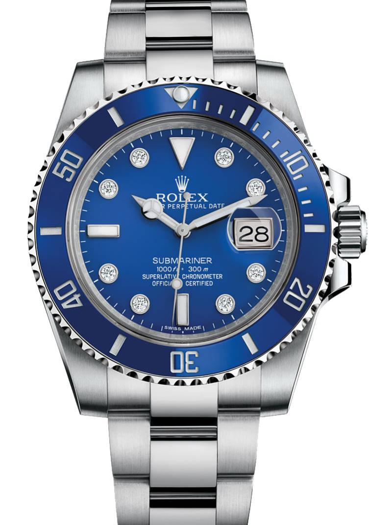 116619LB Rolex Date White Gold Submariner