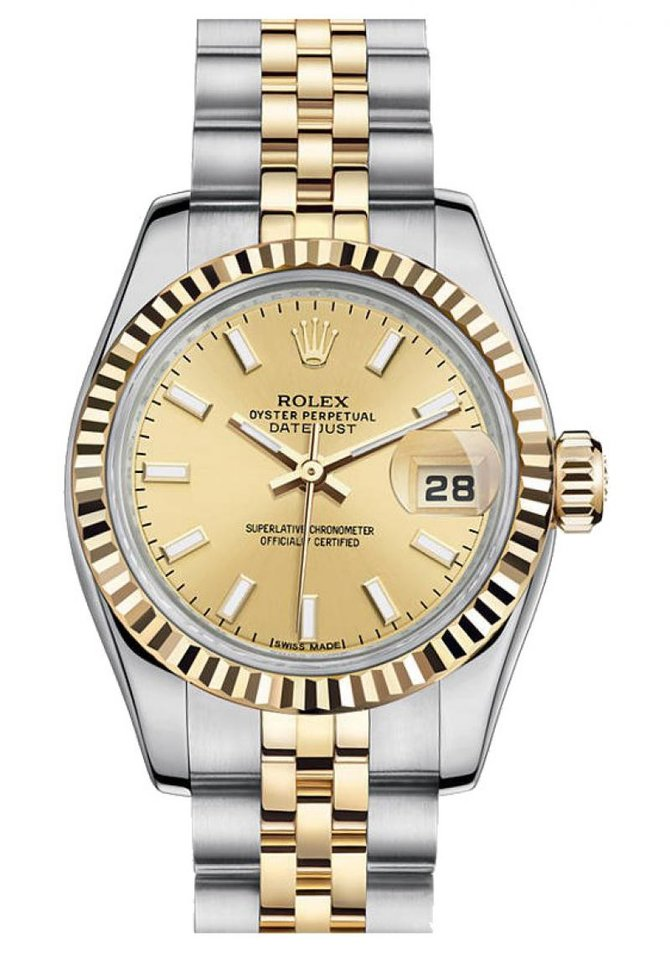Rolex 179173 Champagne Datejust Ladies 26mm Steel and Yellow Gold - фото 1