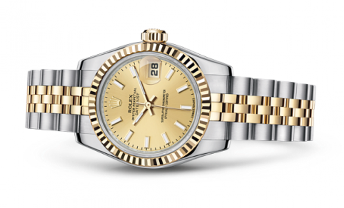 Rolex 179173 Champagne Datejust Ladies 26mm Steel and Yellow Gold - фото 2
