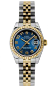 Rolex Datejust Ladies 179173 blcaj 26mm Steel and Yellow Gold