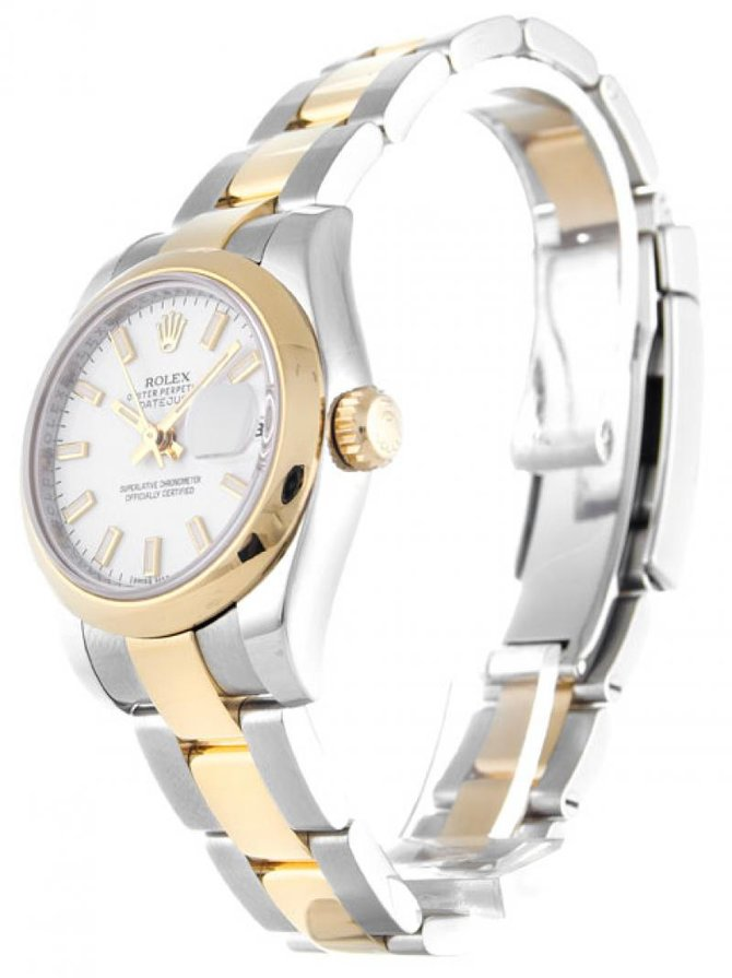 Rolex 179163 White Datejust Ladies 26mm Steel and Yellow Gold - фото 5