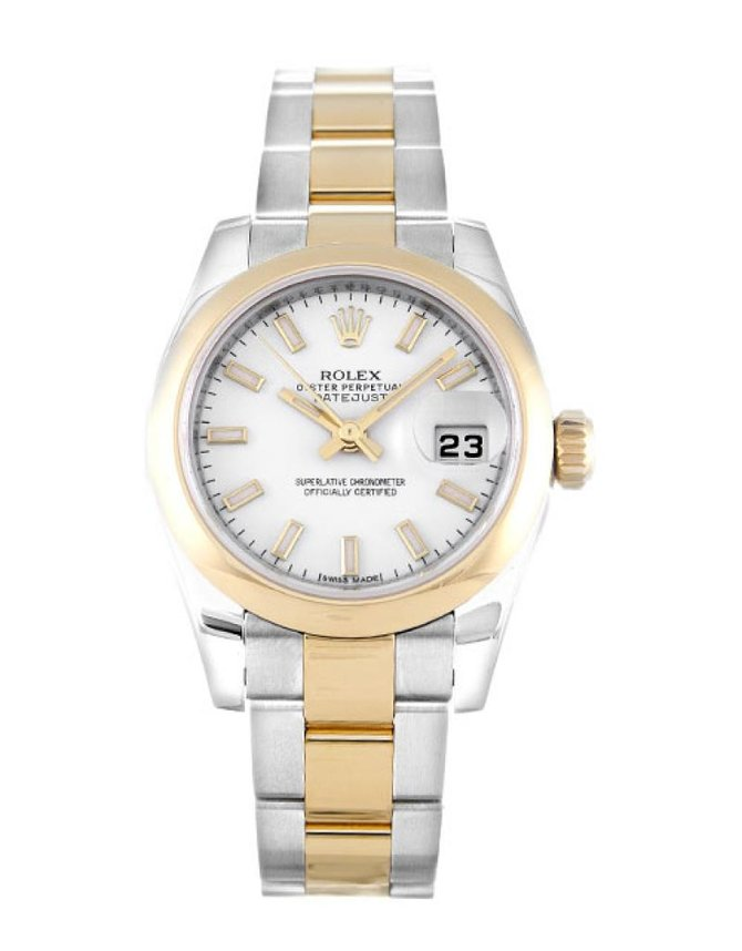Rolex 179163 White Datejust Ladies 26mm Steel and Yellow Gold - фото 1