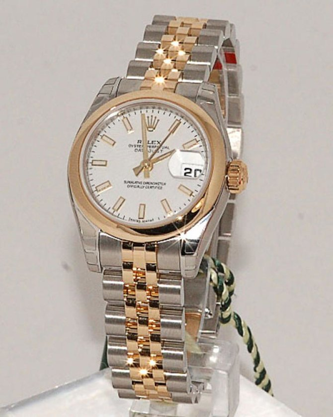 Rolex 179163 White Datejust Ladies 26mm Steel and Yellow Gold - фото 2