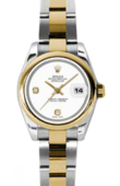 Rolex Datejust Ladies 179163 wado 26mm Steel and Yellow Gold
