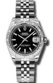 Rolex Datejust 178344 bkij Datejust 31mm Steel and White Gold