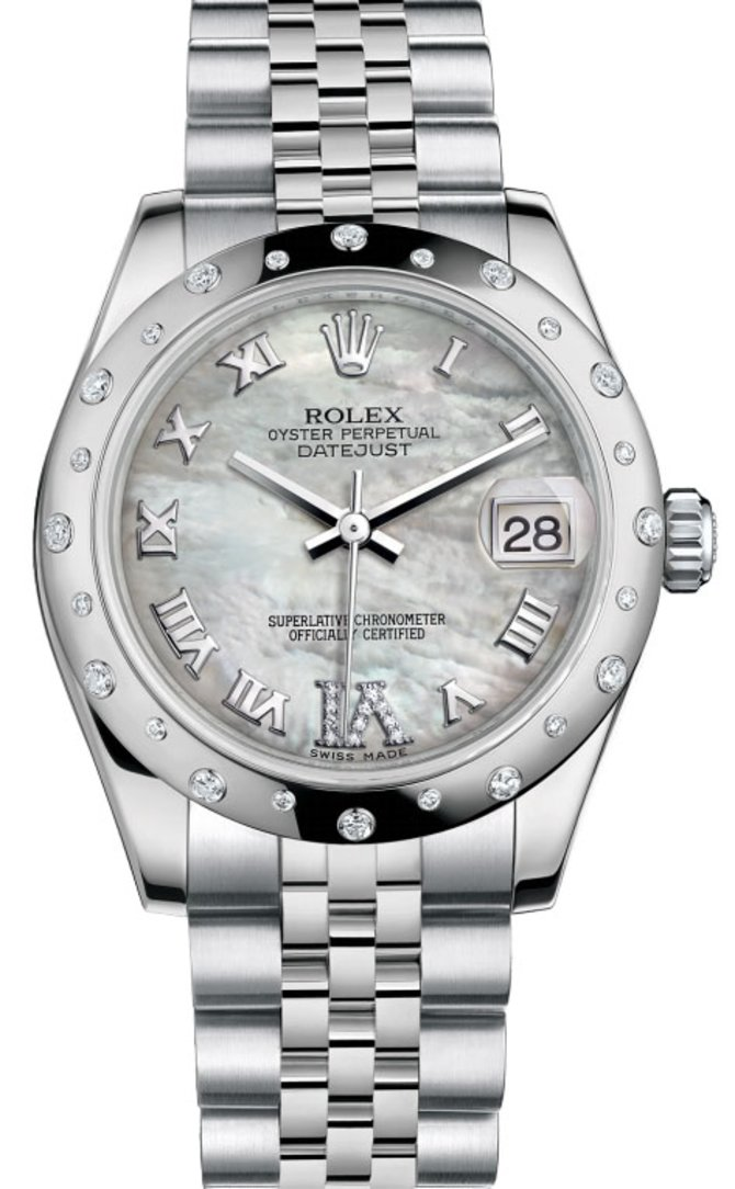 Rolex 178344 mdrj Datejust Datejust 31mm Steel and White Gold