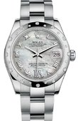 Rolex Datejust 178344 mdro 31mm Steel and White Gold