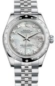 Rolex Datejust 178344 mrj 31mm Steel and White Gold