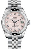 Rolex Datejust 178344 pmdj 31mm Steel and White Gold