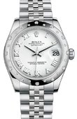 Rolex Datejust 178344 wrj 31mm Steel and White Gold