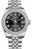 Rolex Datejust 178384 bkcaj 31mm Steel and White Gold