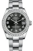 Rolex Datejust 178384 bkcao 31mm Steel and White Gold