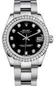 Rolex Datejust 178384 bkdo Datejust 31mm Steel and White Gold