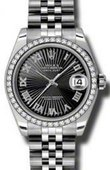 Rolex Datejust 178384 bksbrj 31mm Steel and White Gold